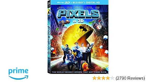 Pixels (3D Blu-ray + Blu-ray + UltraViolet)