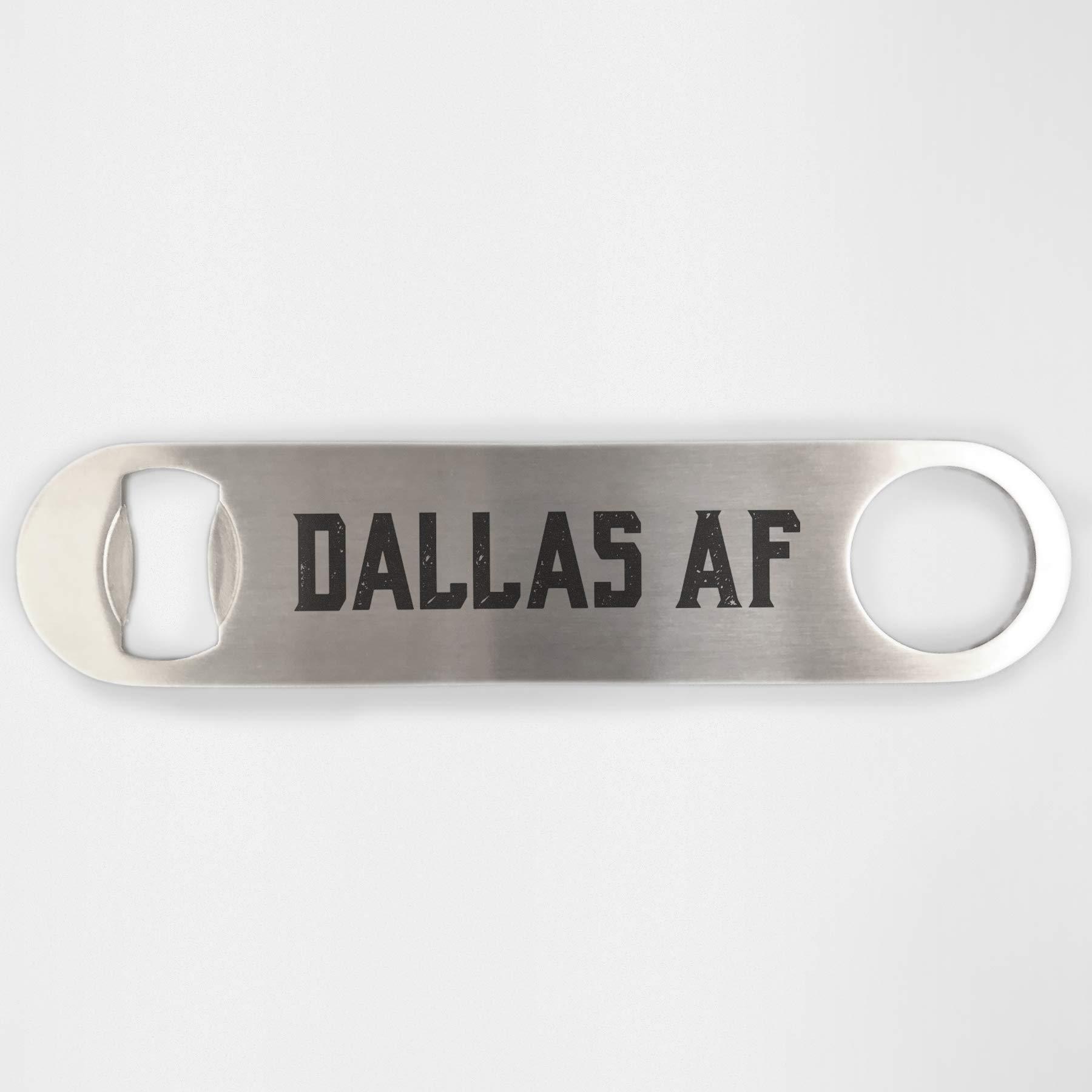 Dallas Texas Af Stainless Steel Heavy Duty Flat Bar Key Beer Laser Etched Bottle Opener