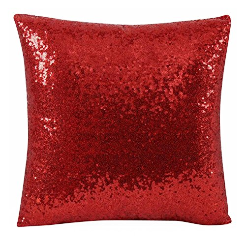 iZHH Solid Color Glitter Sequins Throw Pillow Case Cushion Covers (Pillow Where To Buy Cases Euro)