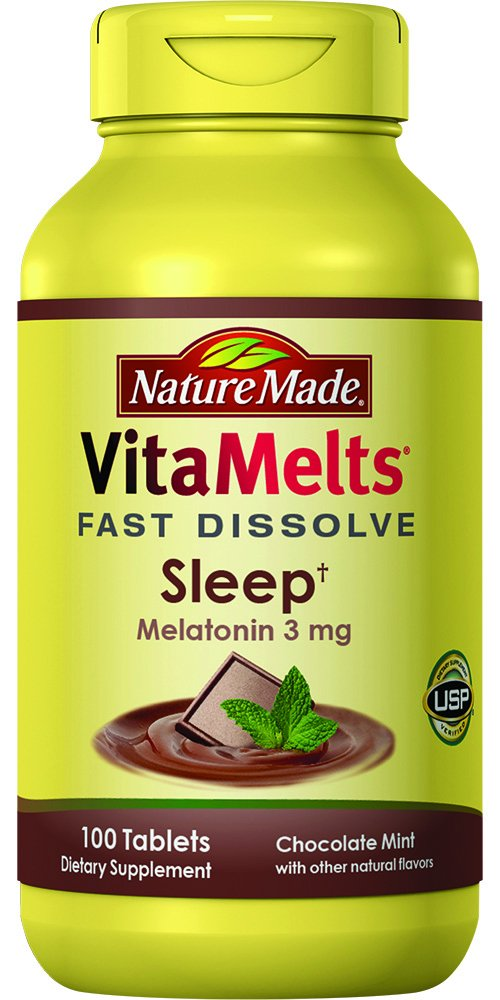 Nature Made VitaMelts Fast Dissolve Melatonin 3 mg. (Sleep) 100ct product image