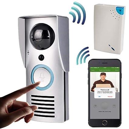 WWAVE Noche de Video Timbre inalámbrico Puerta teléfono intercomunicador Monitor Smart Bell HD cámara Sensor de