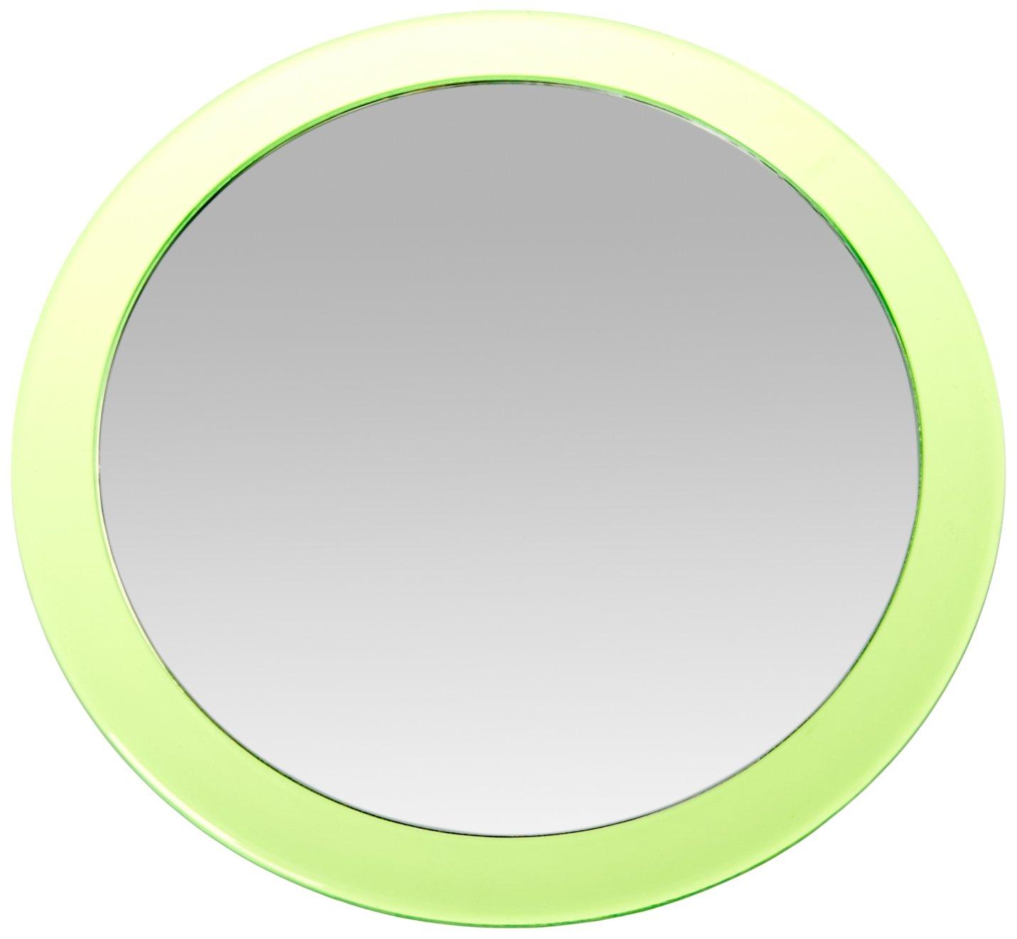 MSV 141404 Miroir Grossissant avec Ventouse M/étal Noir 15 x 15 x 3 cm