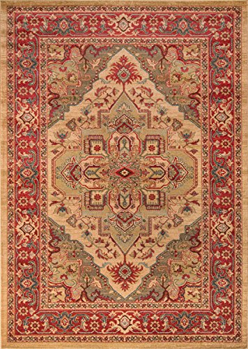 Momeni Rugs GHAZNGZ-05BGE7A9A Ghazni Collection, Traditional Area Rug, 7'10