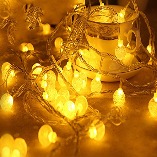 Rattan Ball String Lights 100 LEDS Christmas Indoor String Lights for Christmas Tree, Garden, Patio, Wedding, Party (Warm White)