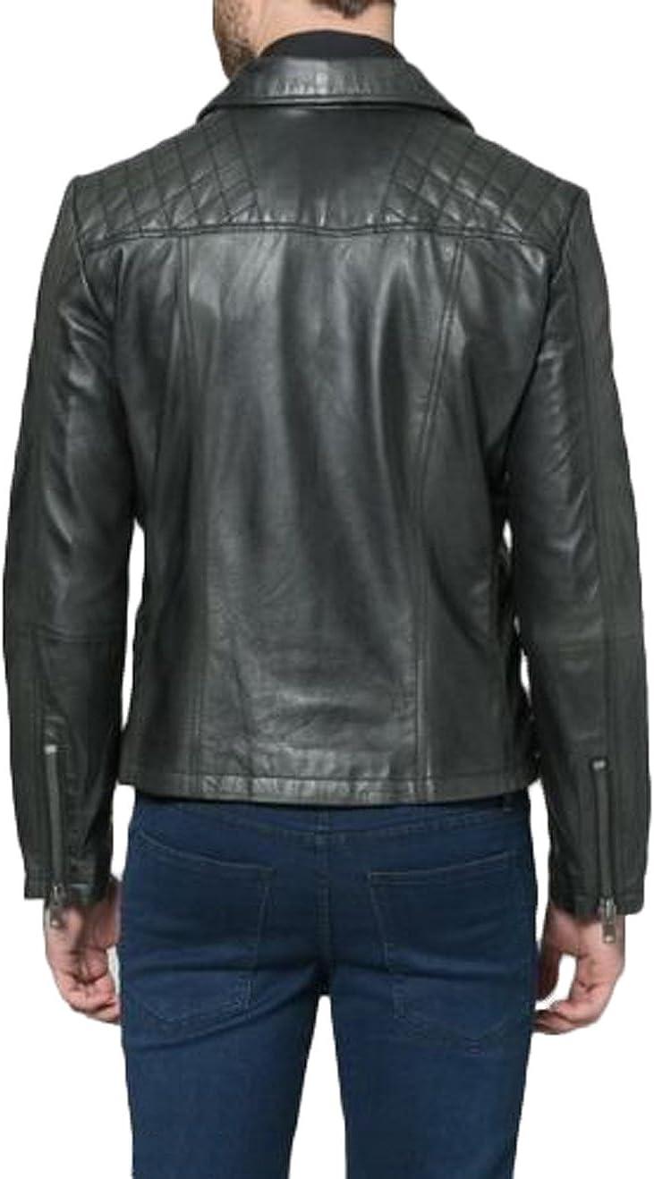 Men Leather Jacket Coat Motorcycle Biker Slim Fit Outwear Jackets N1375