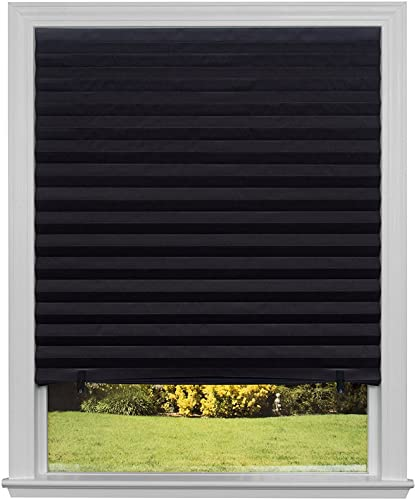 Original Blackout Pleated Paper Shade Black, 48 x 72 , Pack of 6