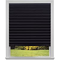 "Original Blackout Pleated Paper Shade, Black, 36"" x 72"", 6 Pack"