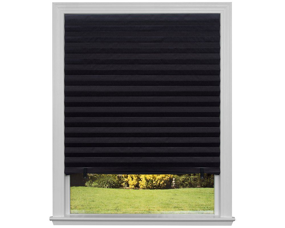 Original Blackout Pleated Paper Shade Black, 48'' x 72'', (Pack of 6) by Redi Shade