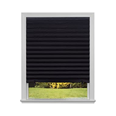 "Original Blackout Pleated Paper Shade Black, 36"" x 72"", 6-Pack"