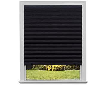 Amazon Com Original Blackout Pleated Paper Shade Black 36 X 72