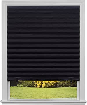 """Original Blackout Pleated Paper Shade Black, 36"""" x 72"""", 6-Pack"""