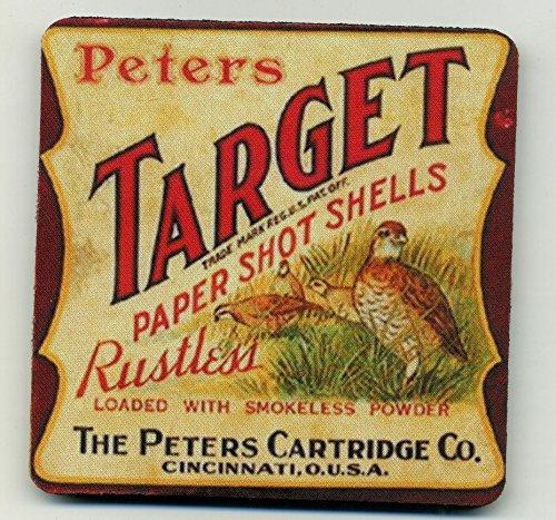 (Peters Target Paper Shot Shells Coaster Set - Quail Hunting)