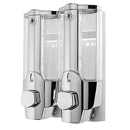 Dispensador de jabón doble para pared, Jabonera de loción líquido, dispensador de Jabón y