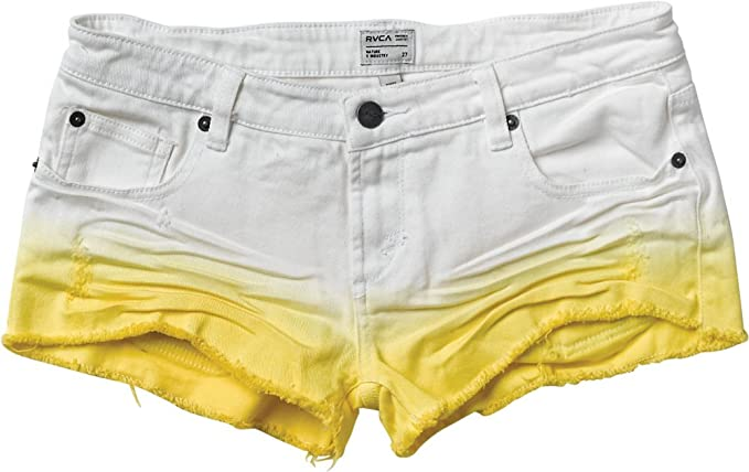 Amazon.com: RVCA marea alta de la mujer Denim Shorts Limón ...