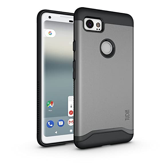 half off 1193a 056d2 Google Pixel 2 XL Case, Slim-Fit HEAVY DUTY [MERGE] EXTREME  Protection/Rugged but Slim Dual Layer Case for Google Pixel 2 XL (2017)  (Metallic Slate)
