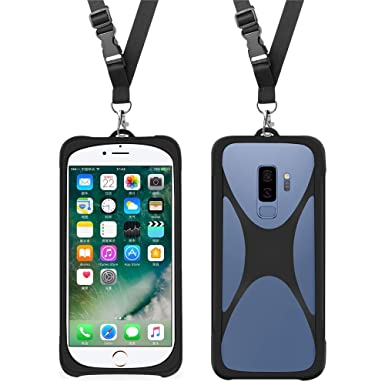 buy online f5536 f892c Shockproof Phone Lanyard Case Universal Smartphone Neck Strap for iPhone X  8 7 6 Samsung Galaxy