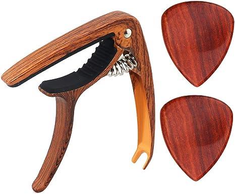 Guitarra De Sándalo Rojo Capo Guitar Pick For Folk Classical ...