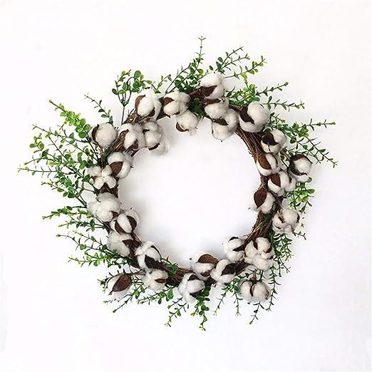 wangjian& Guirnalda de algodón seco de simulación decoración de Guirnalda de umbral de Halloween Navidad, 46cm: Amazon.es: Hogar