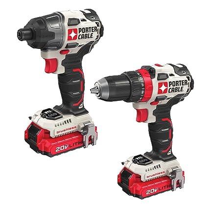 .com: porter-cable pcck619l2 20v 2-tool brushless combo kit ...