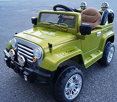 JEEP WRANGLER STYLE BATTERY OPERATED RIDE ON TOY CAR WITH...