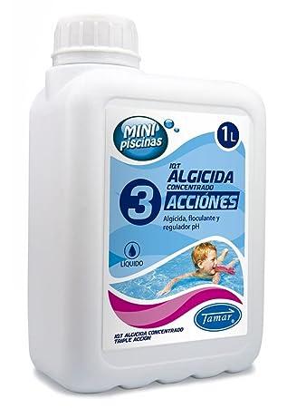 Tamar - Algicida 3 Acciones, especial Mini Piscinas, Garrafa de 1 Litro.: Amazon.es: Jardín