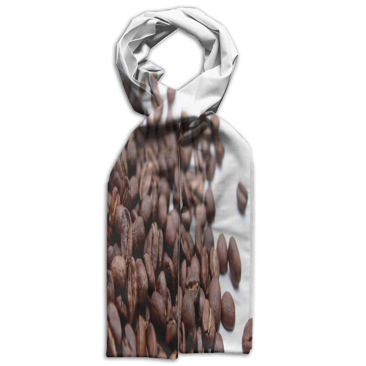 Kids Scarf Coffee Beans Muffler Winter Warm Shawl Wrap For Youth