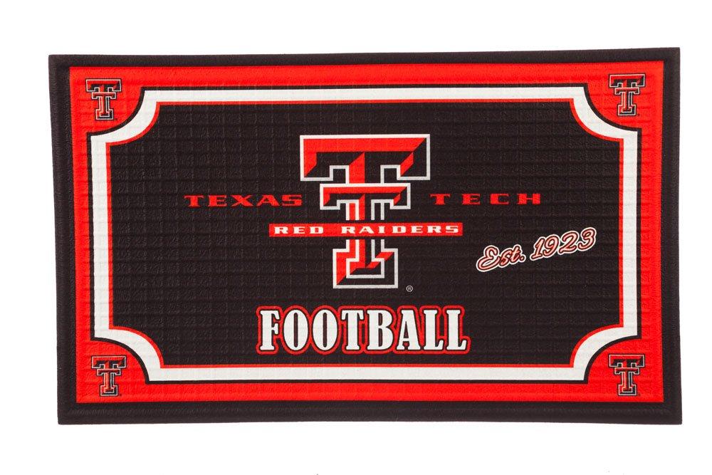 Texas Tech Embossed Door Mat Team Sports America 41EM963 Multicolor