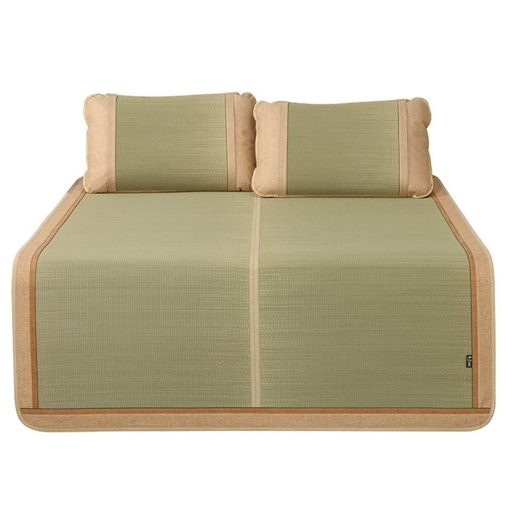 夏 マットレス 竹夏睡眠冷却マットレスマットパッド籐滑らかなエアコン付きベッドマット折りたたみ式 (Size : 150X195CM) B07T7WRQJF  150X195CM