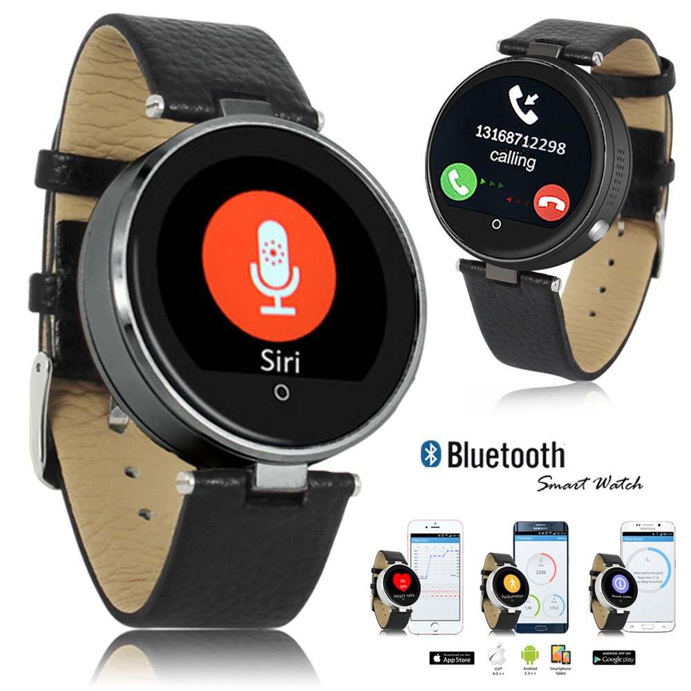 Indigi Bluetooth Smart Watch Metal Case For iOS iPhone 6s 6s+ 6 5s 5 Android Galaxy S6 Edge S5 S4 Note 5 Note 4 HTC Motorola Google Phone