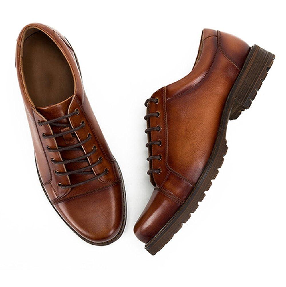 ZPJSZ Männer Männer Männer England Lässig Mode Geschäft Retro Jugend Handarbeit Spitze Lederschuhe,braun-38 241a49