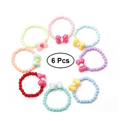 in vendita ca20e 269b4 TOYMYTOY Braccialetto farfalla con perline Set Braccialetto per bambini con  bimba Party Pretend Play Bracelet, 6 Pz
