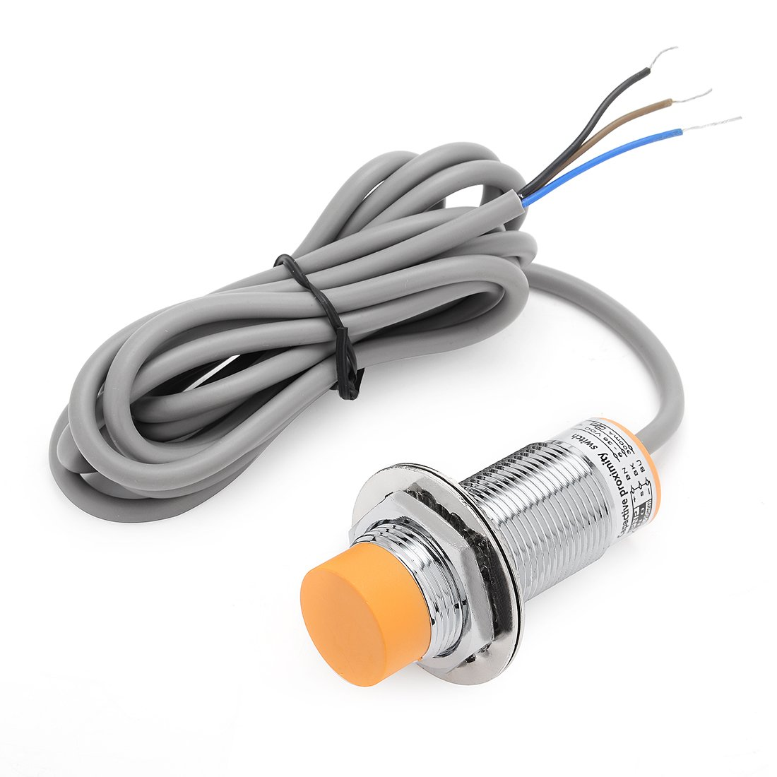 uxcell LJC24A3-T-Z/BY 1-15mm Capacitance Proximity Sensor Switch PNP NO DC 6-36V 300mA