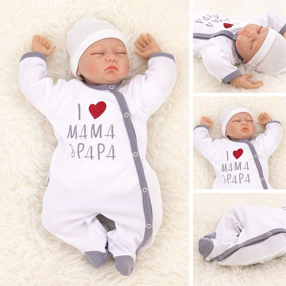 62 3 Monate Baby Sweets Baby Strampler f/ür M/ädchen und Jungen//Baby-Overall in Wei/ß Grau als Schlafanzug und Babystrampler im Motiv I Love Mama /& Papa f/ür Neugeborene und Kleinkinder in der Gr/ö/ße