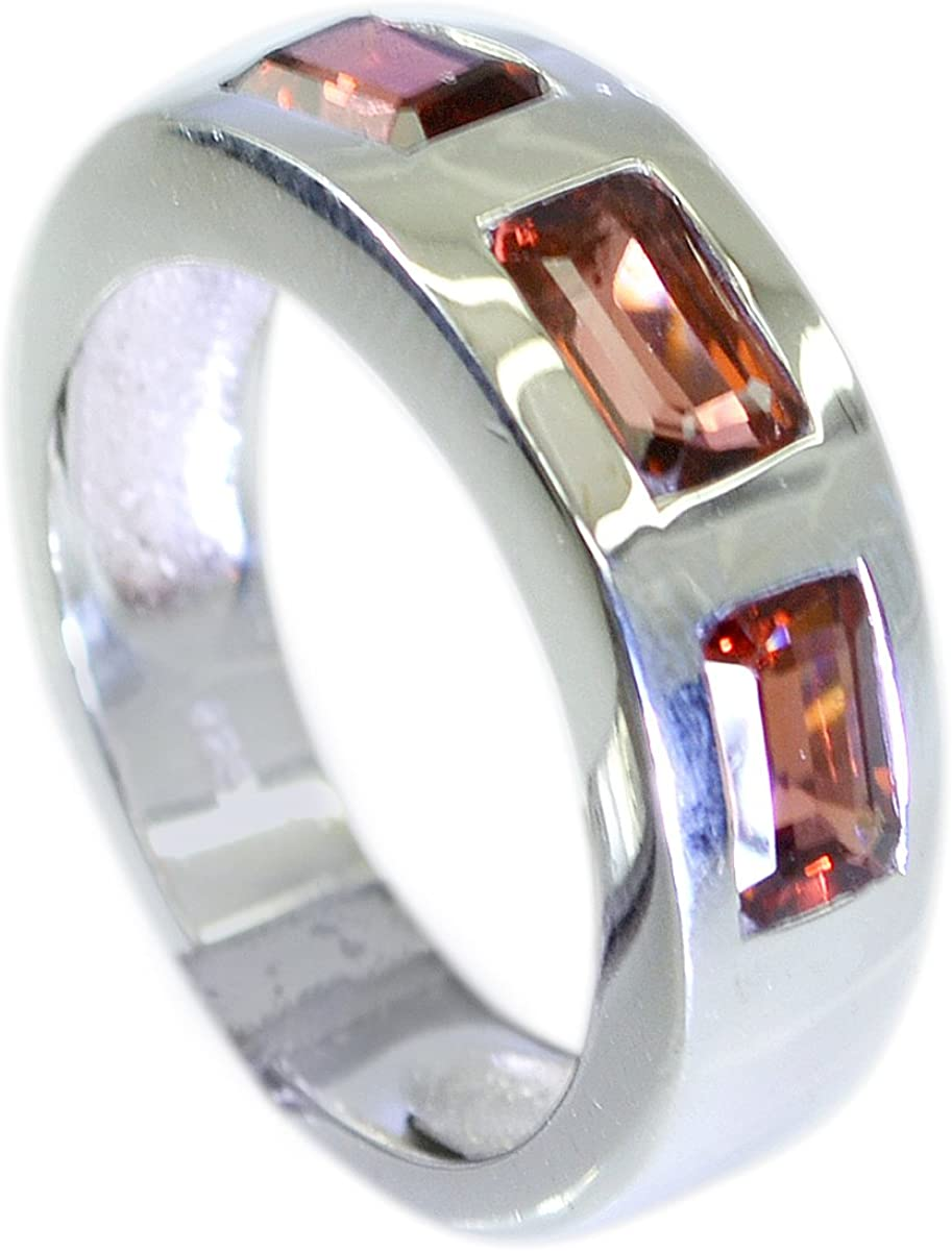 Garnet Silver Ring 925 Sterling Silver Healing Gemstone Engagement Ring Silver Jewelry January Birthstone Gift For Her