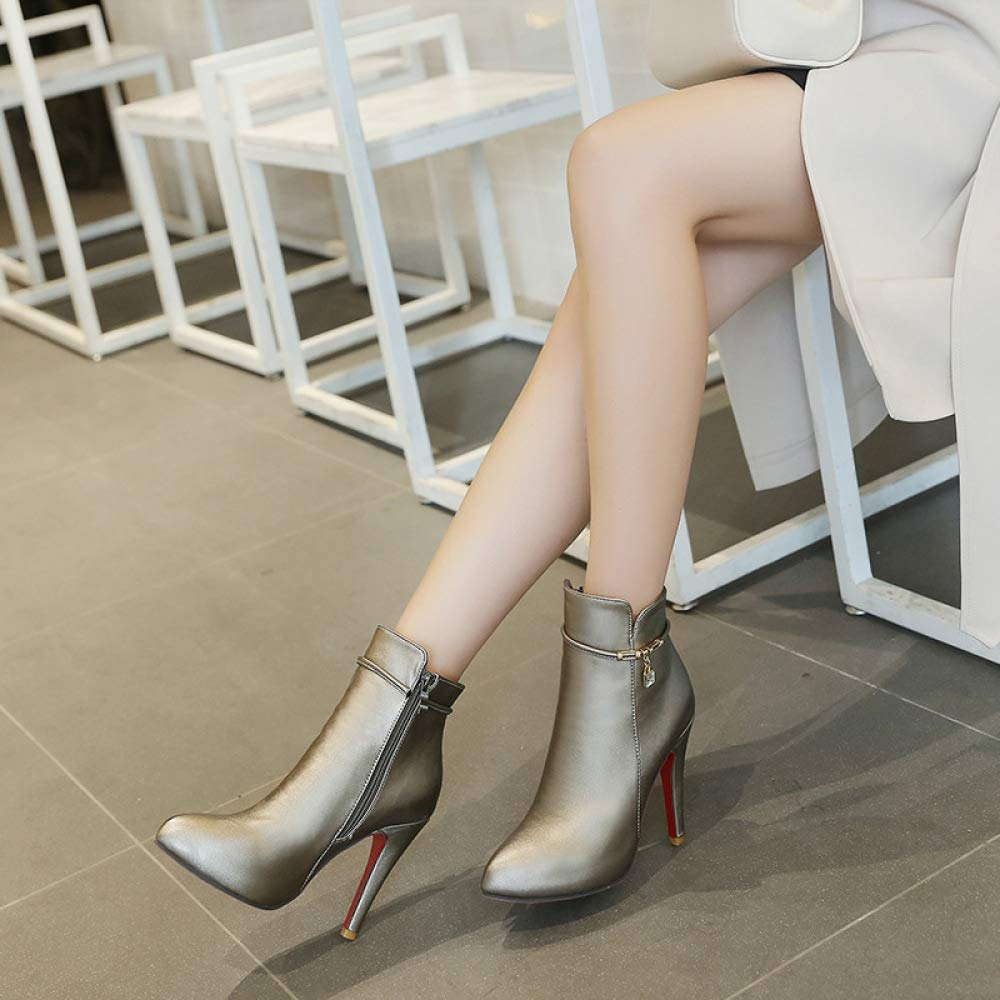 QINGMM Damenmode Super High Heel Stiefel Größe Herbst Winter Einfache Martin Stiefel Größe Stiefel 40-43 1a421c