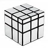 D-FantiX Shengshou Mirror Cube 3x3 Speed Cube Unequal Puzzle Silver Black 57mm