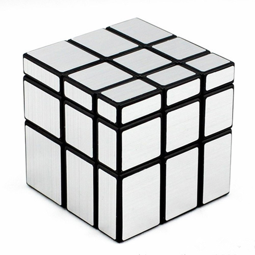 D Fanti X Shengshou Mirror Cube 3x3 Speed Cube Unequal Puzzle Silver Black 57mm by D Fanti X