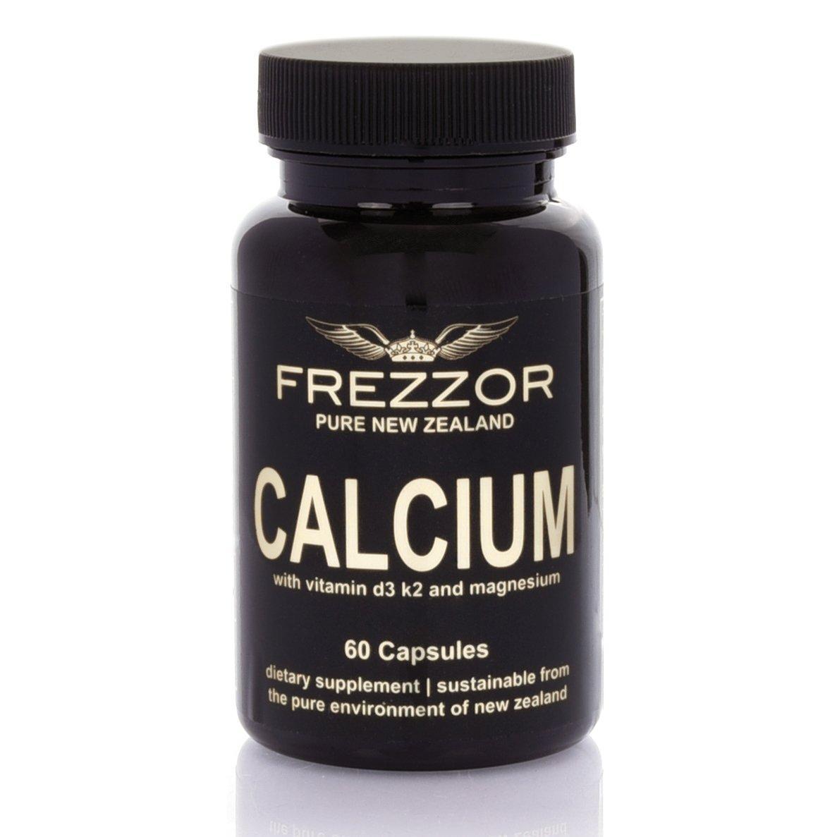 Frezzor | Natural Calcium with Vitamins D3, K2, and Magnesium | Wild-Caught Fish Bones | Naturally Sourced | 60 capsules