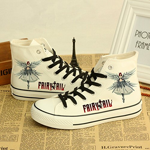 Fairy Tail Canvas Shoes Cosplay Shoes Sneakers White White 4 Rcy8xt8