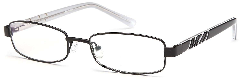 3fe2c6985e Amazon.com  Unisex Rectangular Glasses Frames Black Prescription Eyeglasses  Rxable 52-17-135  Clothing