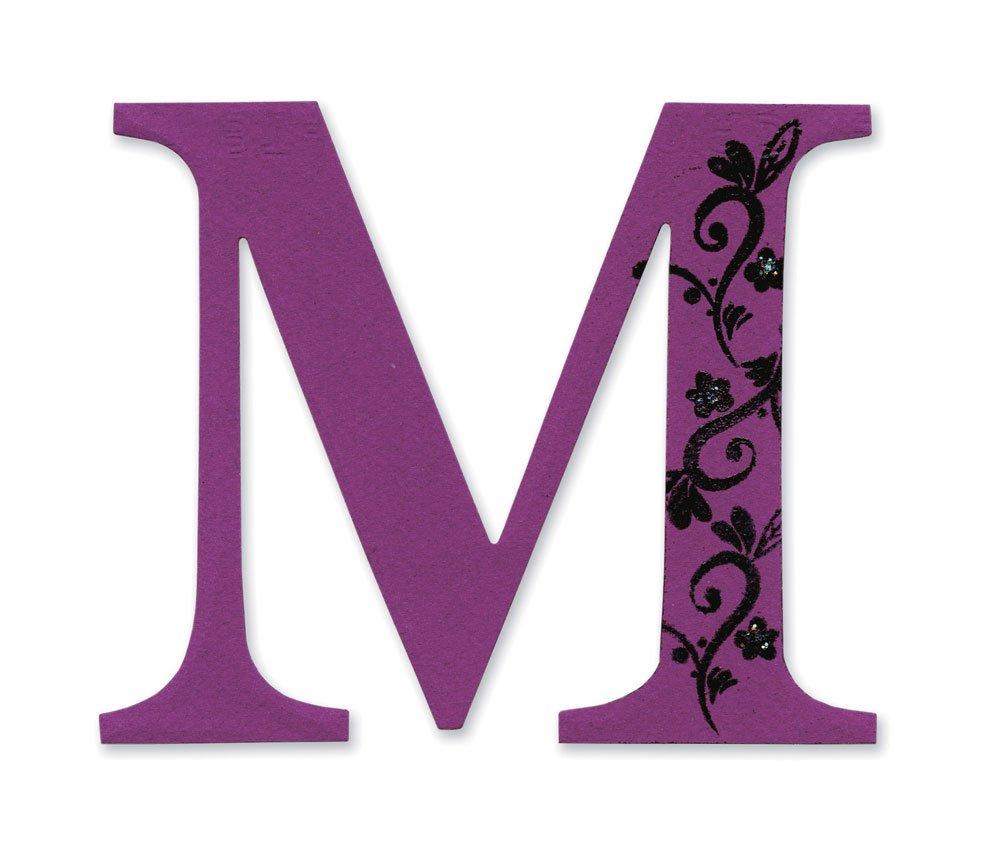 Sizzix Bigz Alfabeto en Mayú sculas Troquel Letra de Sassy Serif 'M' Ellison 654728