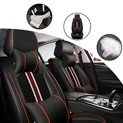 black//blue full set Car seat covers fit Mitsubishi L200