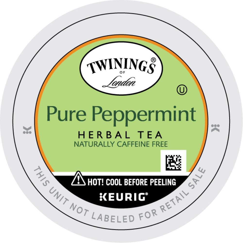 Twinings of London Pure Peppermint Tea K-Cups for Keurig, 12 Count