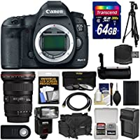 Canon EOS 5D Mark III Digital SLR Camera Body with 16-35mm f/2.8 L Lens + 64GB Card + Case + Flash + Battery/Charger + Grip + Tripod Kit At A Glance Review Image