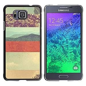 Paccase / SLIM PC / Aliminium Casa Carcasa Funda Case Cover para - Summer Sun Lines Vignette Desert - Samsung GALAXY ALPHA G850