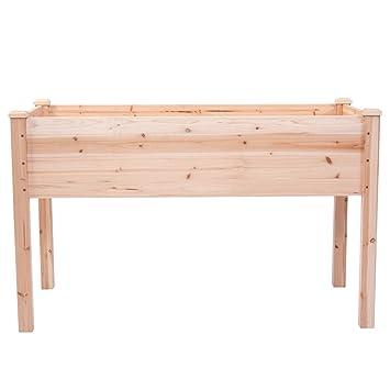 Kit Pflanzgefass Gemusegarten Bett Erhohten Hochbeet Holz Grow Garten
