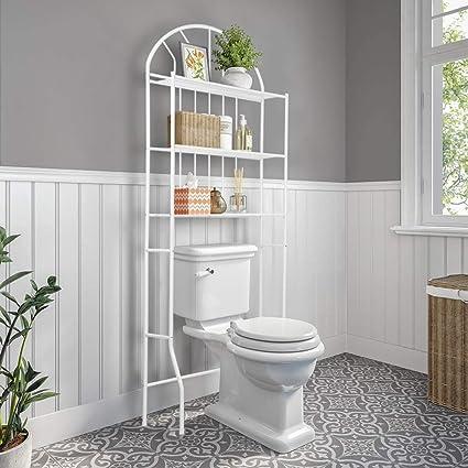 Cocoarm Estanteria Inodoro,Estanteria Baño 3 Niveles Estante de Almacenamiento Cuarto de baño Estante para tu baño o lavadero, 176.5 × 62 × 33.5 cm, ...