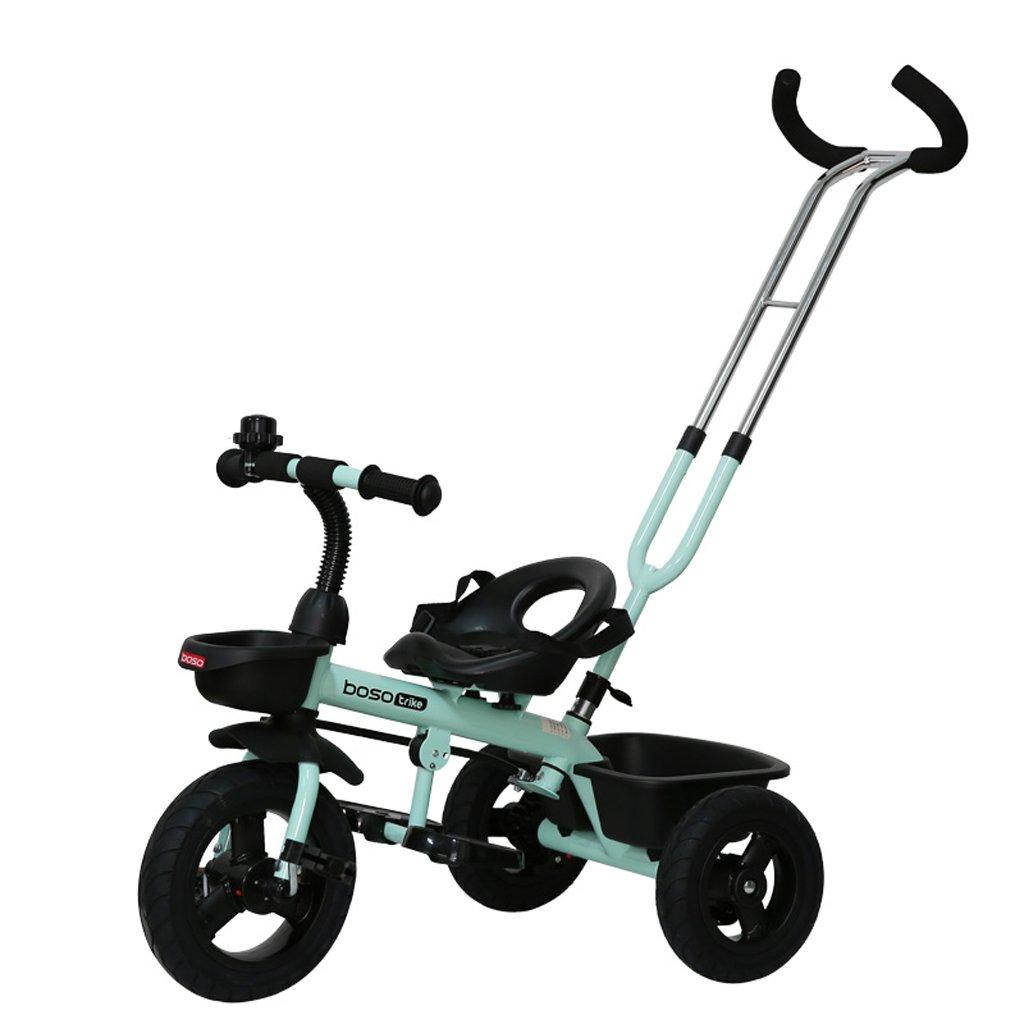 子供の三輪車バイク1-6赤ちゃんバイク赤ちゃんのトロリー、オレンジ、白、シアン、76 * 45 * 90cm ( Color : Blue ) B07C7STT18