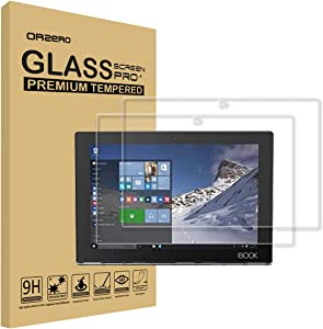 (2 Pack) Orzero Compatible for Lenovo Yoga Book 10.1 Inch Tempered Glass Screen Protector, 9 Hardness HD Anti-Scratch Bubble-Free High-Definition (Lifetime Replacement)