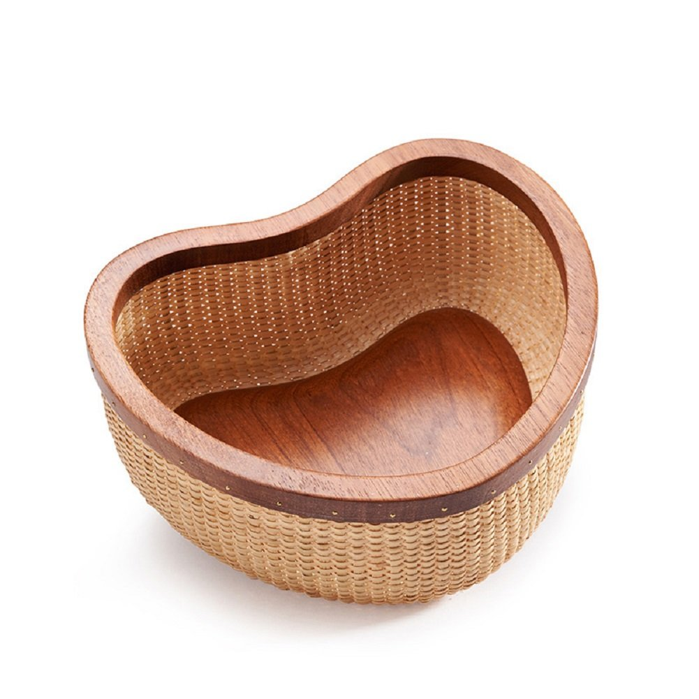 Nantucket Basket ナンタケットバスケット 母の日 チェリー木 伝統工芸品 手作り NantucketBasket 収納ケース カゴ ハート形 小物収納ボックス B07FTRTCGY